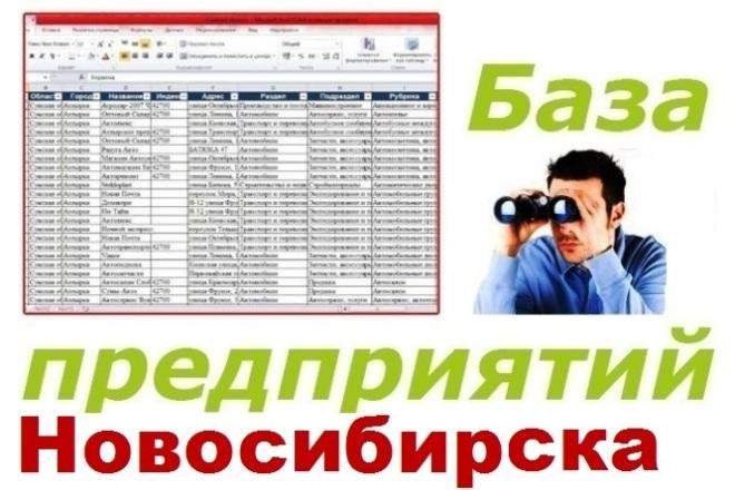 База предприятий Новосибирска для обзвона и рассылок 1 - kwork.ru