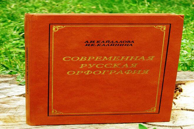 Проверка русской орфографии и пунктуации 1 - kwork.ru