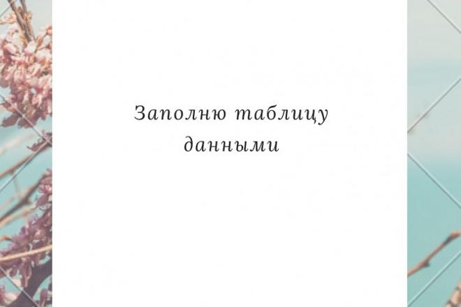 Заполню таблицу данными 1 - kwork.ru