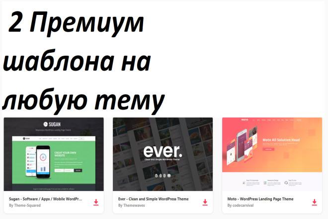 2 Премиум адаптивных шаблона на любую тему 4 - kwork.ru