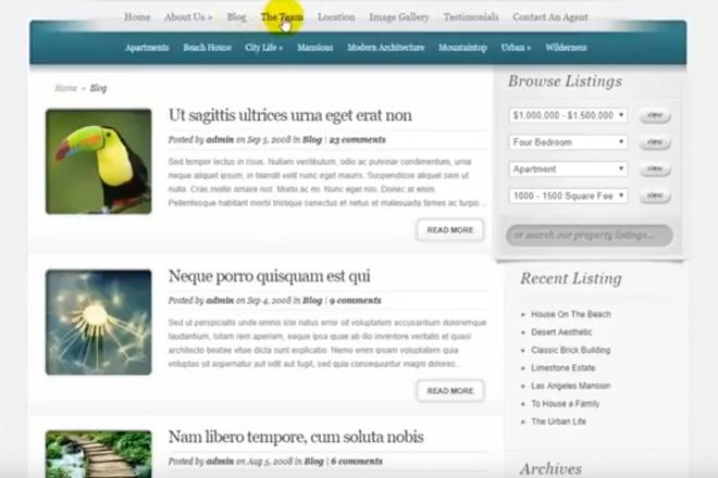 Премиум шаблон WordPress, для сайт недвижимости 4 - kwork.ru