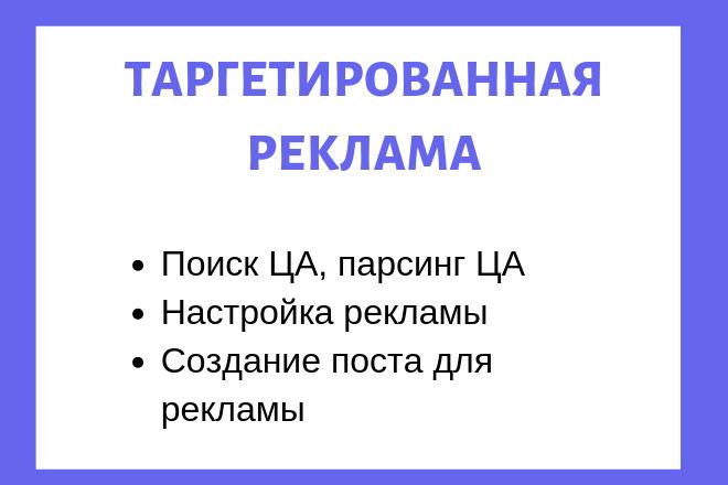 Настройка таргетированный рекламы Вконтакте 1 - kwork.ru