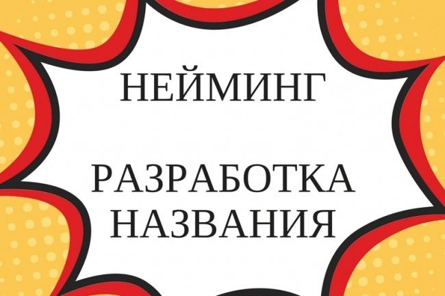 Разработка названия. Нейминг 1 - kwork.ru