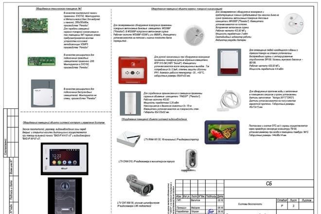 Проект слаботочных сетей безопасности или отдельные чертежи 1 - kwork.ru