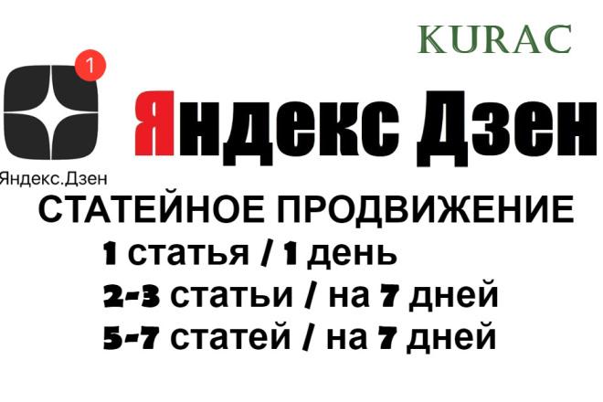 Статейное продвижение ДЗЕН канала фото