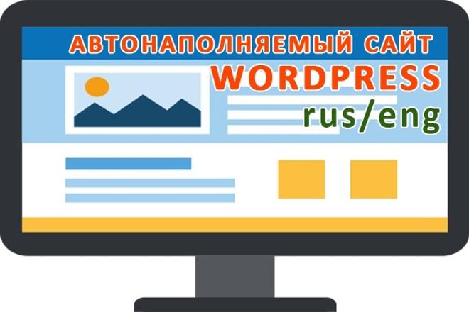 Подключу систему автонаполнения на сайт WordPress различных тематик 1 - kwork.ru