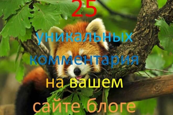 25 уникальных комментариев на Вашем сайте, блоге 1 - kwork.ru