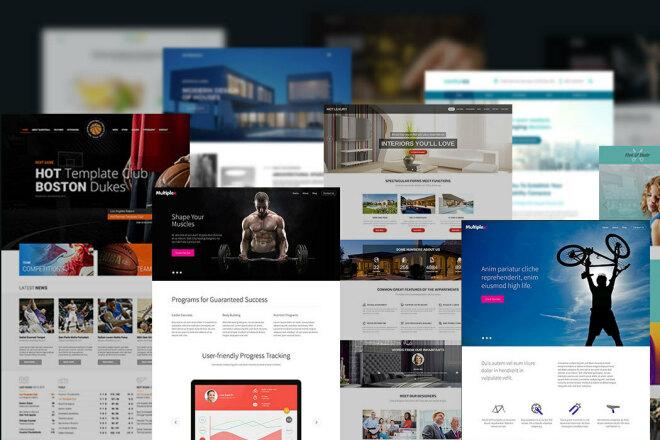 Joomla - набор премиум шаблонов 6 - kwork.ru