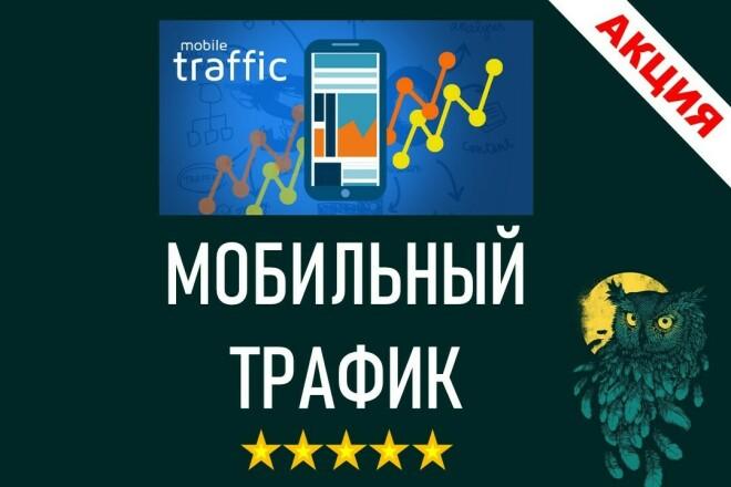 Мобильный трафик на сайт. 6000 в течении 30 дней 1 - kwork.ru