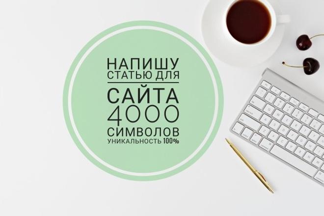 Напишу статью о товаре для сайта, 4000 символов, уникальность - 100% 1 - kwork.ru
