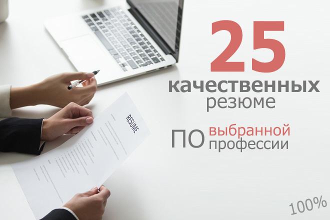 Подбор резюме 1 - kwork.ru