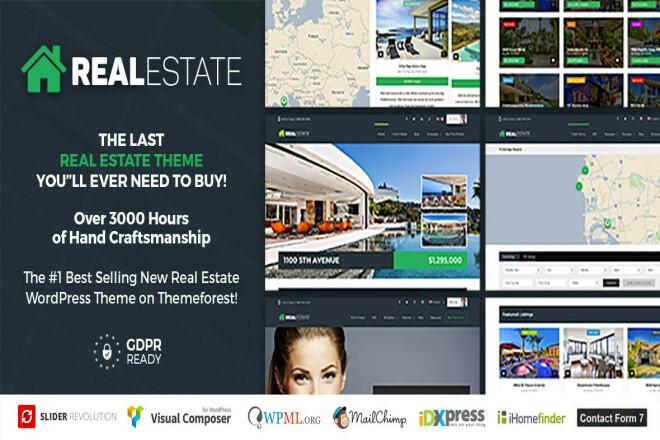 Шаблон Real Estate 7 WordPress на русском с обновлениями 7 - kwork.ru