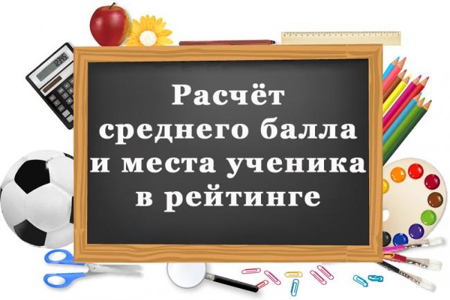Расчет среднего балла и рейтинга успеваемости для Вашего класса 1 - kwork.ru