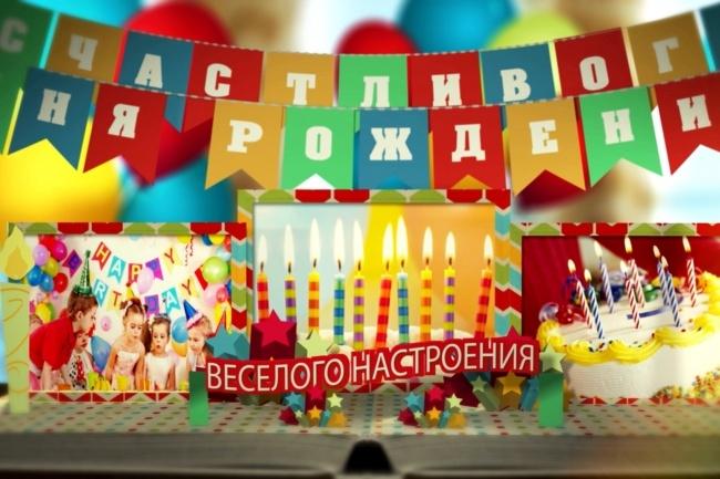 Видеопоздравление С днем рождения 1 - kwork.ru