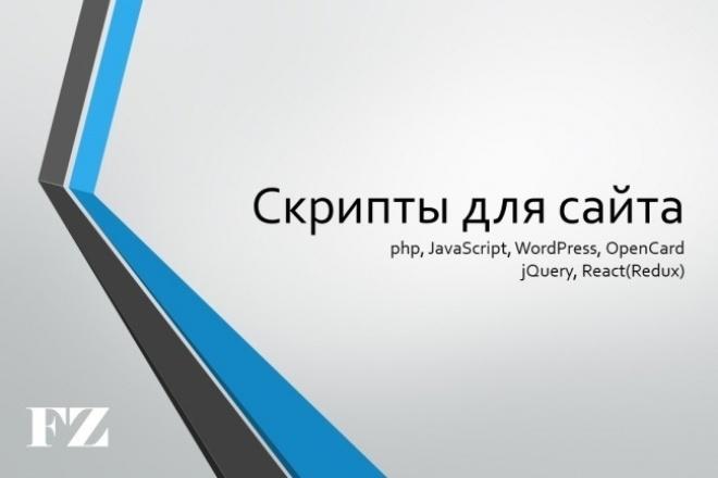Напишу скрипт для cайта 1 - kwork.ru