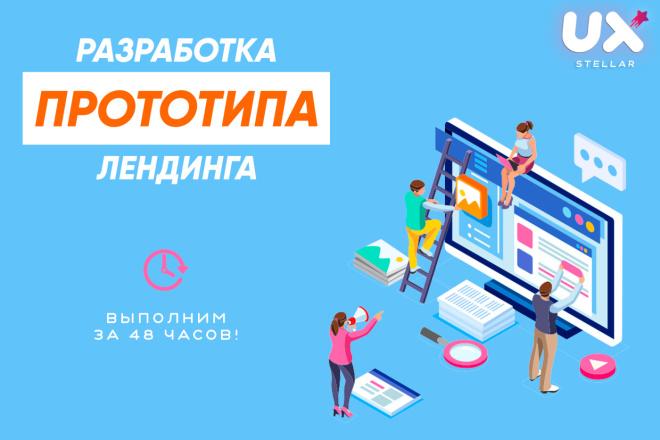 Создание прототипа лендинга от UX. UI профессионалов 4 - kwork.ru