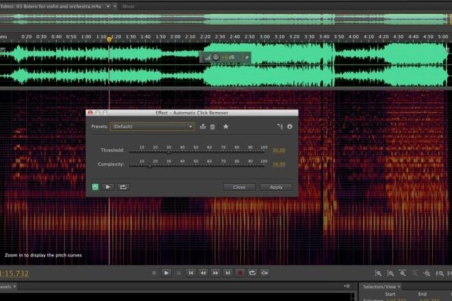 Обработка аудио дорожек, удаление шумов, коррекция голоса 1 - kwork.ru