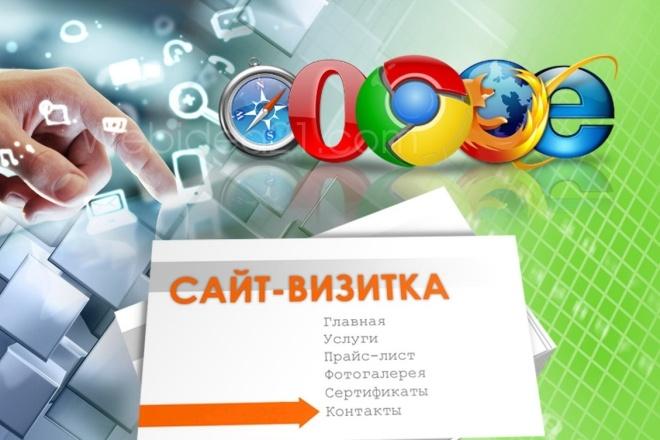 Создам сайт - визитку 7 - kwork.ru