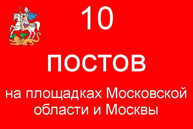 10 активных ссылок на Московских форумах 1 - kwork.ru