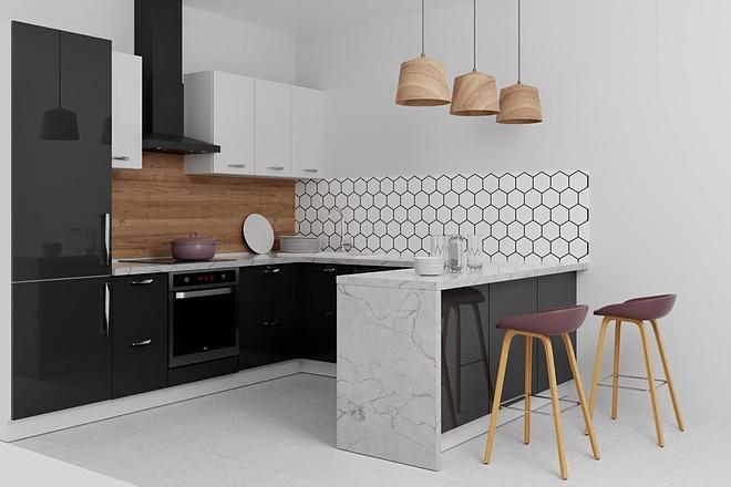 Дизайн-проект кухни. 3 варианта 32 - kwork.ru