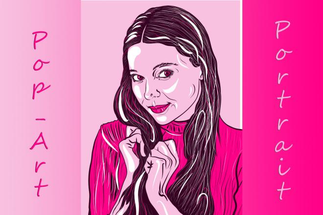 Портрет в стиле Поп - Арт векторный 10 - kwork.ru