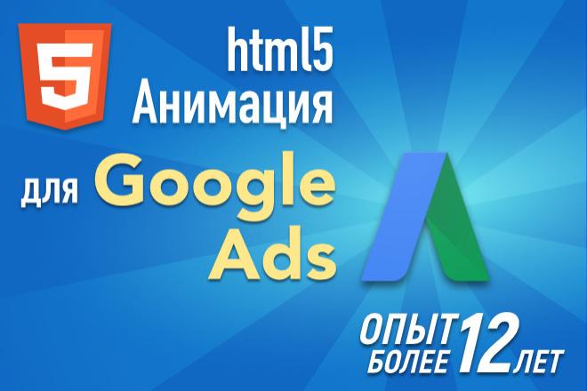 Анимационные HTML5 баннеры для Google Ads 5 - kwork.ru
