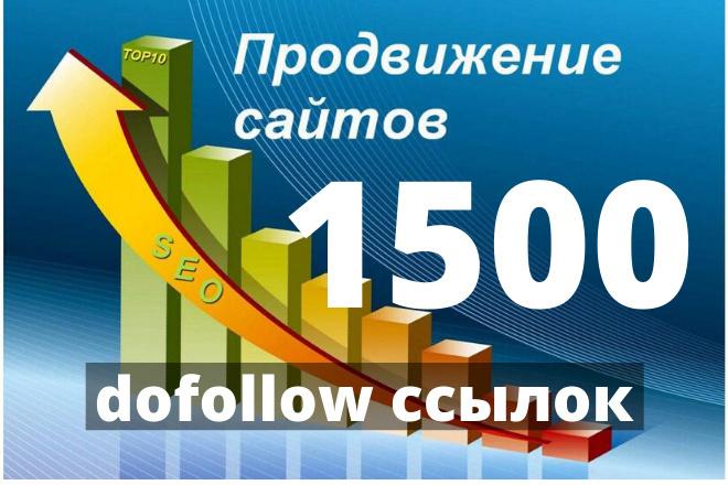 1500 dofollow ссылок для ускорения индексации 1 - kwork.ru