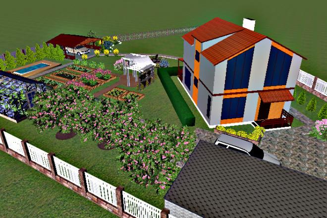 Создам 3D визуализацию ландшафта 8 - kwork.ru