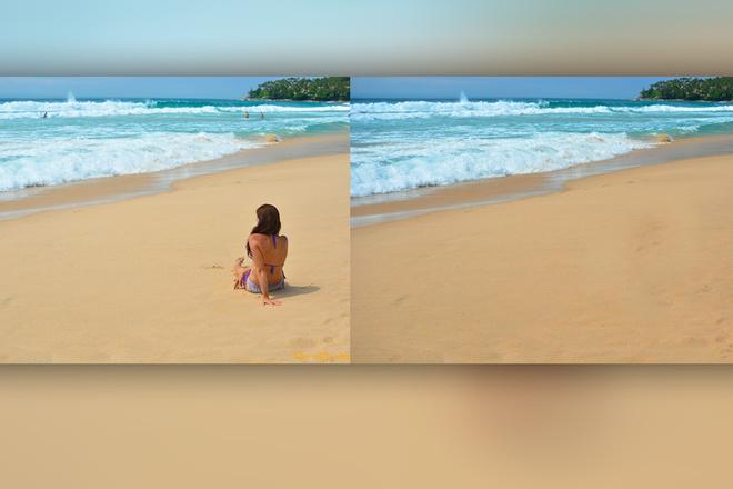 Удалю любой объект из кадра в Photoshop, или обработаю фото 5 - kwork.ru