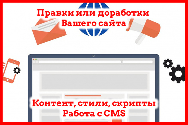 Доработка или правка сайта 1 - kwork.ru