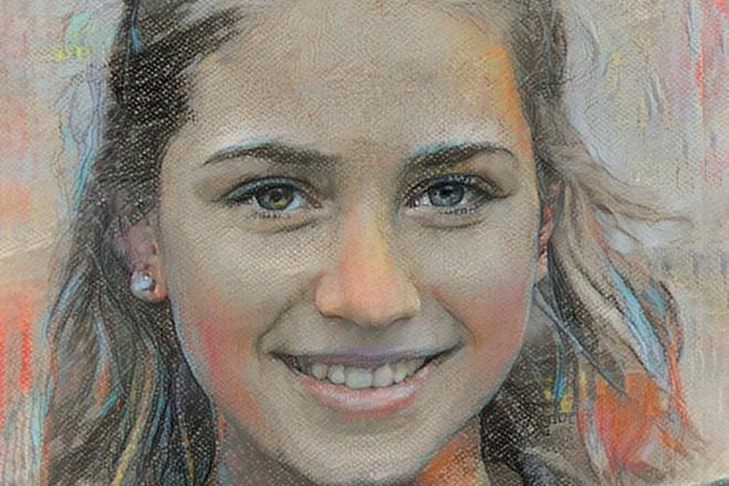 Нарисую портрет мелом 4 - kwork.ru