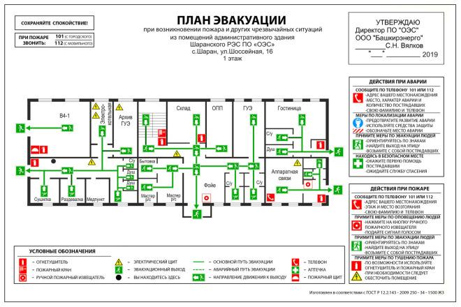 Разработка планов эвакуации по ГОСТу в разных форматах 4 - kwork.ru