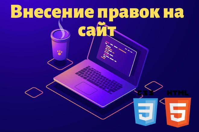 Внесение правок на сайт 5 - kwork.ru