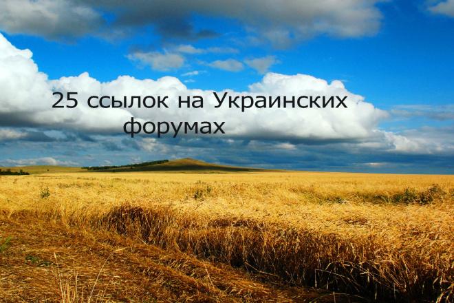 Размещу 25 ссылок на украинских форумах 1 - kwork.ru
