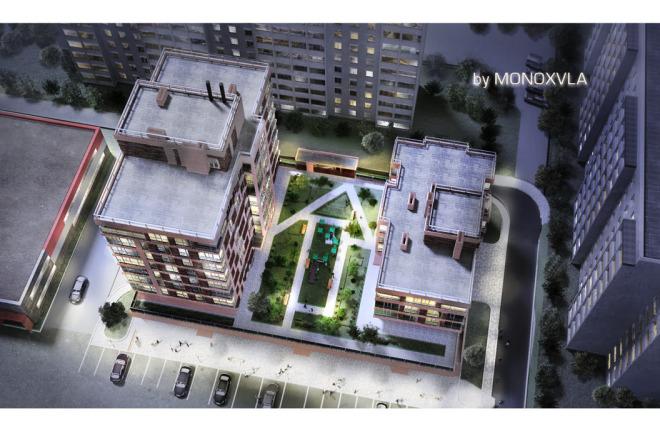 3D визуализация - многоквартирный дом, жилой комплекс 4 - kwork.ru