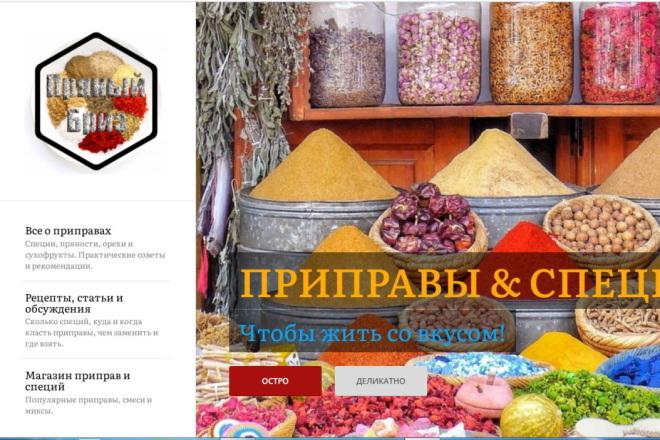 Сайт с рецептами на подклейку - 30 рецептов 1 - kwork.ru