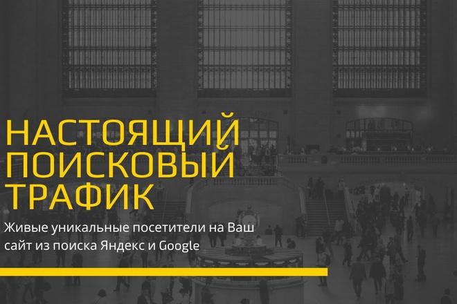 Живой трафик из поиска. Настоящие посетители на сайт из поисковиков 1 - kwork.ru