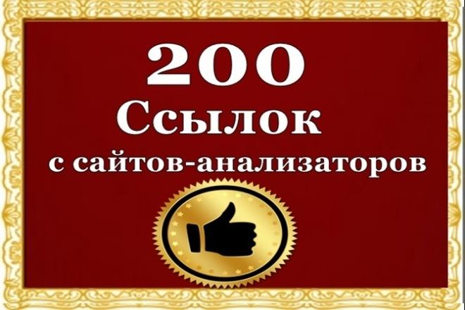 Ссылки с сайтов анализаторов 1 - kwork.ru