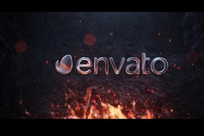 Сделаю интро с Металлическим логотипом и огнем 1 - kwork.ru