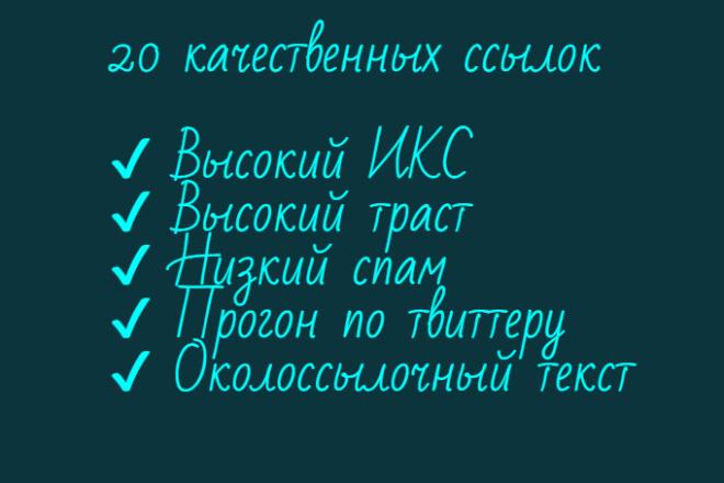 20 трастовых ссылок, общий ИКС почти 100000, средний траст 76 из 100 1 - kwork.ru