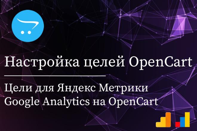 Настройка целей в Яндекс Метрике для OpenCart 1 - kwork.ru