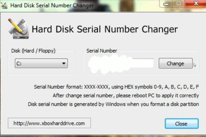 Hard Disk Serial Number Changer 1 - kwork.ru