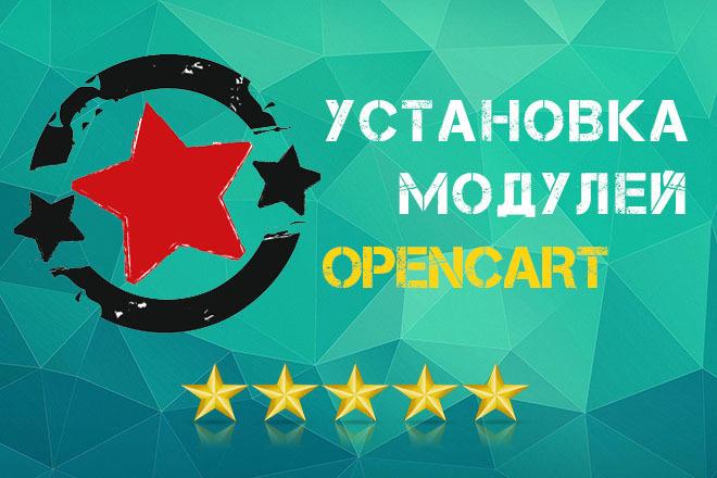 Установка модулей на CMS Opencart, OcStore 1 - kwork.ru