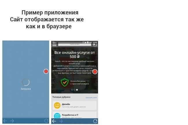 Конвертирование или конвертация сайта в приложение 1 - kwork.ru