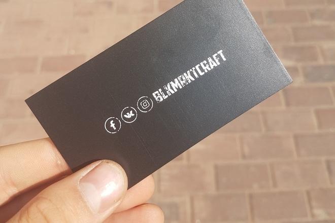 Полноценный дизайн уникальной визитки. Быстро, красиво, недорого 3 - kwork.ru