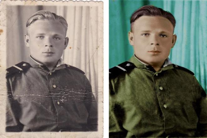 Реставрация старых фото 20 - kwork.ru