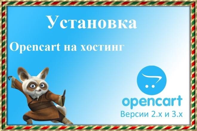 Установлю cms Opencart на хостинг. Быстро 1 - kwork.ru