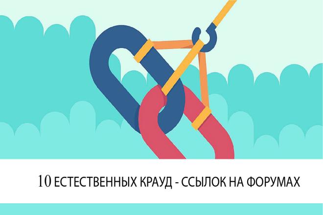 Естественные крауд - ссылки на форумах 1 - kwork.ru