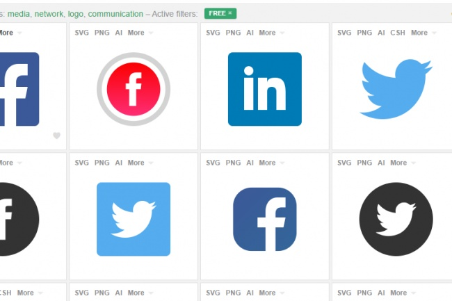 Социальные кнопки на свои проекты 1 - kwork.ru