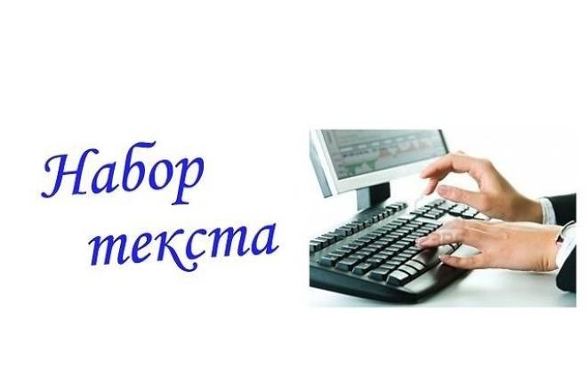 Напечатаю текст вручную 1 - kwork.ru
